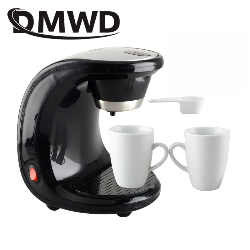 DMWD American automatic drip coffee maker teapot tea boiler mini Household Electric pump pressure cafe Coffee machine 110V 220V недорого