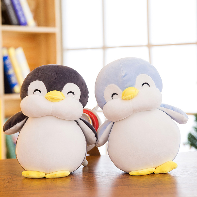 30cm/45cm/55cm Penguin Plush Toys Soft Kawaii Animal Stuff Doll Sofa Pillows Penguin Christmas Birthday Gift for Kid Baby Girl
