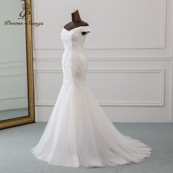 PoemsSongs 2019 new style beautiful three-dimensional flower lace wedding dress Vestido de noiva Mermaid dress  robe mariage 2