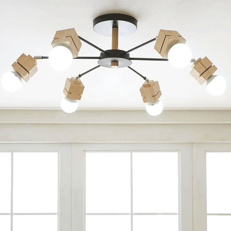 A1 Nordic wood creative personality Korean living room lamps ceiling lamps restaurant bedroom modern minimalist ceiling lights a1 towards the gate of modern minimalist creative european style cobblestone glass ceiling light living room restaurant rice