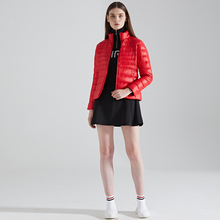 Fall Winter Fashion Stand collar Women Down 90% White Dark 8 Color light Travel Clothes Jacket Short clothes