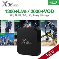 X96 mini Android 7.1 Smart IP TV Box 4 K Quad Core 1 Jaar QHDTV Code Abonnement Europa Kanalen X96mini Franse Arabisch IPTV doos