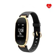 Получить скидку 2018 роскошный новый T9 GPS Для женщин смарт-браслет сердечного ритма Мониторы измеритель пульса Спорт Для женщин Часы Bluetooth Relogio feminino