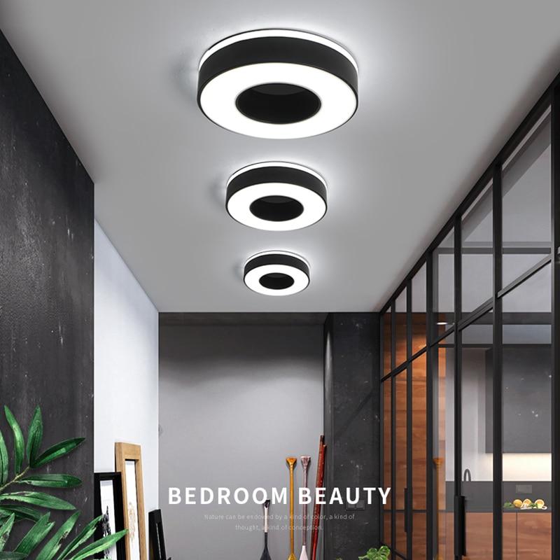 Image 2 - Diameter 240mm Modern LED Ceiling Light For Holly aisle corridor Bedroom Black or White Square/Round/Triangle led Ceiling Lamp-in Ceiling Lights from Lights & Lighting