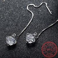 Tuker New Arrival 925 Sterling Silver With AAA Zircon Love Dangle Earrings For Women Fashion Jewelry