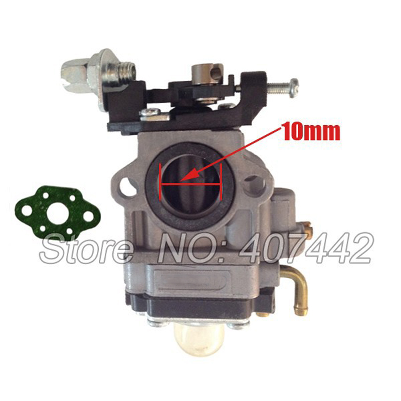 10mm Carburetor  32F Carb With Gasket  Fit Various Grass Trimmer  Hedge Trimmer Brush Cutter