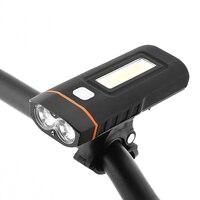 جديد مزدوج اثنين من أضواء إضاءة أمامية للدراجة LED مصباح T6 COB الجبهة ضوء 650 لومينز 18650 بطارية قابلة للشحن وشملت