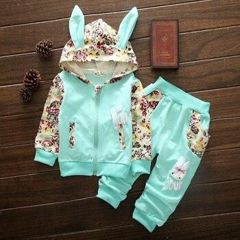 Милые комплекты одежды для маленьких девочек; Высокое качество; Детский костюм с длинными рукавами и принтом для маленьких девочек; От 1 до 4 ...