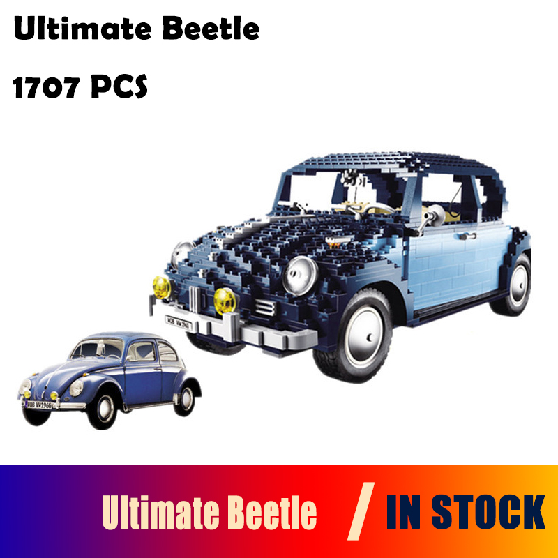 Model Building Blocks toys 21014 1707Pcs Classic Series Ultimate Beetlecar-styling Compatible With Lego 10187 lepin 21014 the ultimate beetle building bricks blocks toys for children boys game model car gift compatible with bela 10187