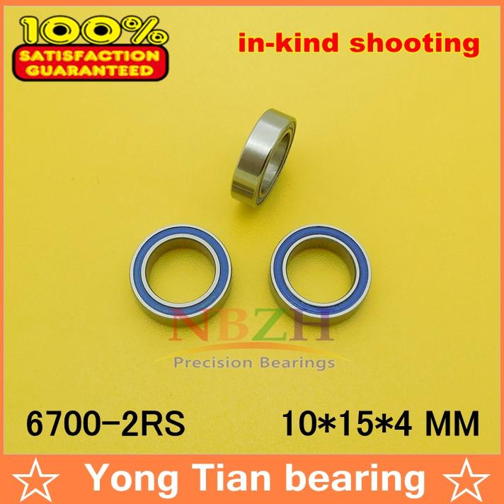 10pcs/lot High quality ABEC-3 Z2V2 blue double rubber sealing cover deep groove ball bearing 6700-2RS 10*15*4 mm 10pcs 608 2rs 608rs 608 2rs 8mm x 22mm x 7mm black double rubber sealing cover deep groove ball bearing for hand spinner