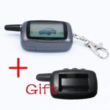 2-way LCD Remote Control Key Fob Chain Keychain + Silicone Key Case For Two Way Car