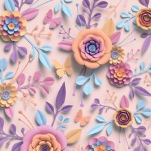 Laeacco Colorful Stereoscopic Handwork Flowers Baby Photography Background Customized Photographic Backdrop For Photo Studio