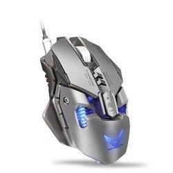 USB mechaniczna mysz PC myszka komputerowa dla gracza 3200DPI z 7 przyciskami LED podświetlenie mysz do gier dla poważnego gracza