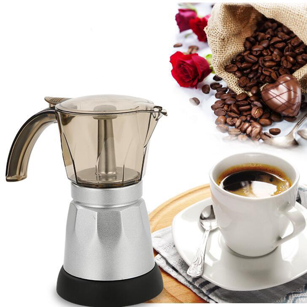 Electric Moka Espresso Coffee Maker 220V/50Hz Cappuccino Maker 300ml EU Plug HY99 AP11Electric Moka Espresso Coffee Maker 220V/50Hz Cappuccino Maker 300ml EU Plug HY99 AP11