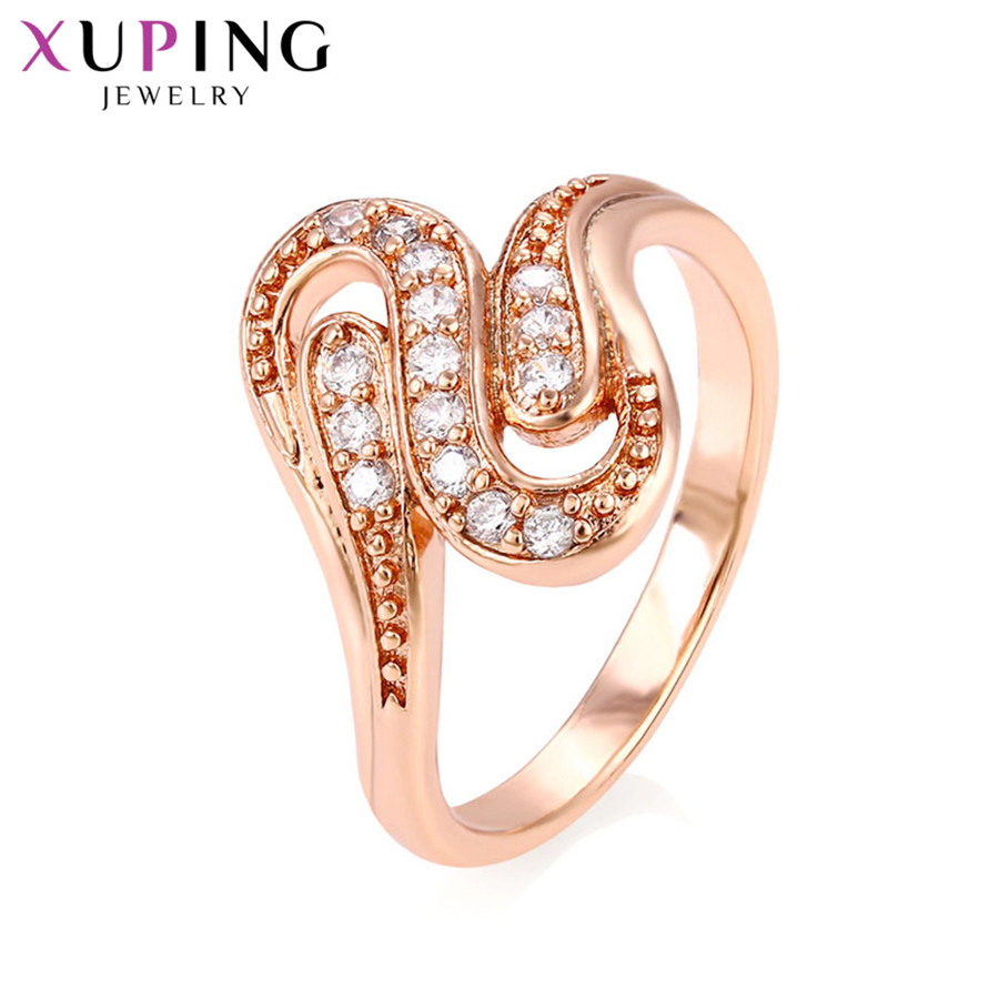 Xuping Luxus Elegante Temperament Ringe Beliebte Design Charme Stil ...