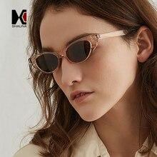 SHAUNA Fashion Nail Decoration Women Small Cat Eye Sunglasses Popular Ladies Butterfly Glasses UV400