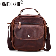 COMFORSKIN Brand Genuine Leather European American Hot Retro Men Messenger Bags High Quality Multi-function Pockets Handbags