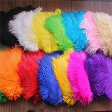 100 pcs 6-8inch 15-20cm Choose Colors Beautiful Ostrich Plume DIY Carft Wedding Party Centerpieces Natural