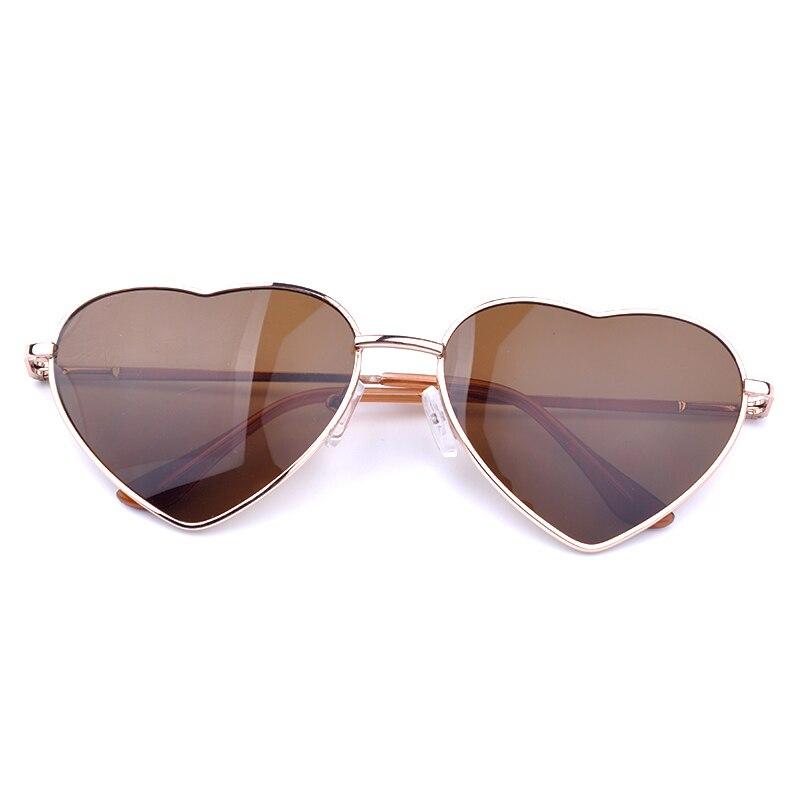 солнцезащитные очки светоотражающие в форме сердца фото