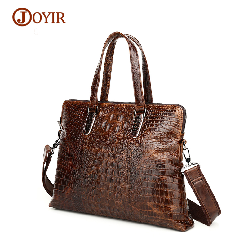 JOYIR Retro Men Handbags Genuine Leather Men Bag Business Luxury Alligator Pattern Handbags Male Totes Messenger Shoulder BagJOYIR Retro Men Handbags Genuine Leather Men Bag Business Luxury Alligator Pattern Handbags Male Totes Messenger Shoulder Bag