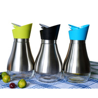 European Style Stainless Steel Sauce Pots Vinegar Pot Seasoning Bottles Spices Three Color Optional Kitchen Supplies