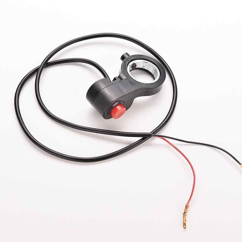 Interrupteur universel de guidon de moto   1 pièce, interrupteur unique de motocyclette, câble ATV et klaxon, démarreur de bouton de destruction, nouveau 0.7''