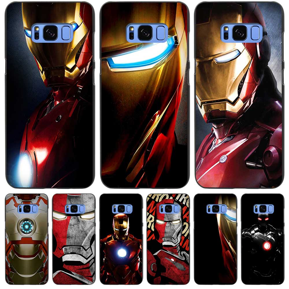 iron man black case cover shell coque for samsung galaxy. Black Bedroom Furniture Sets. Home Design Ideas