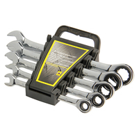 5pcs Ratchet Spanner Combination Wrench 72 Teeth Torque Spanner Gear Wrench Set 8 17mm CR V