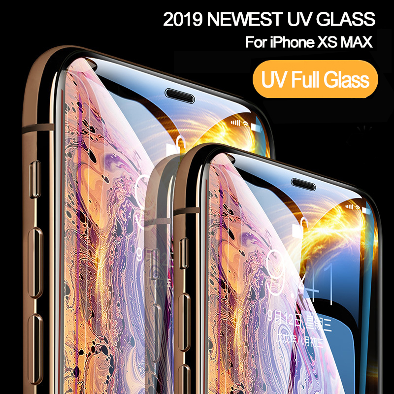 Nano-Liquid-UV-Glue-Tempered-Glass-For-iPhone-XS-MAX-XR-X-Screen-Protector-Full-Film