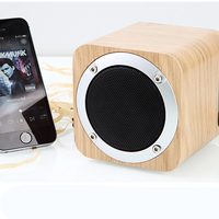 Blutooth Speaker Singing Portable Vintage Wood Wireless Speaker with TF Card Mini Microphone Subwoofer Computer Audio