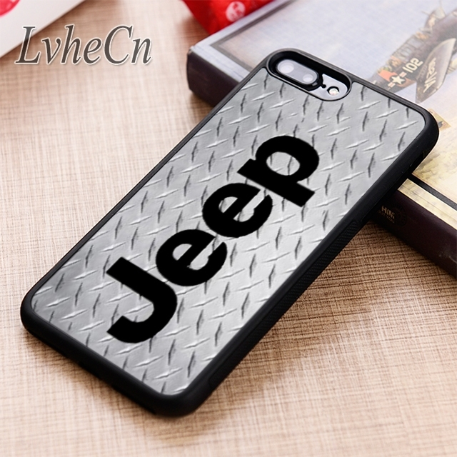 first rate a22cb 57a29 US $2.99 25% OFF|LvheCn JEEP LOGO phone Case cover For iPhone 6 6S 7 8 X XR  XS max 5 5S SE Samsung Galaxy S5 S6 S7 edge S8 S9 Plus-in Fitted Cases ...
