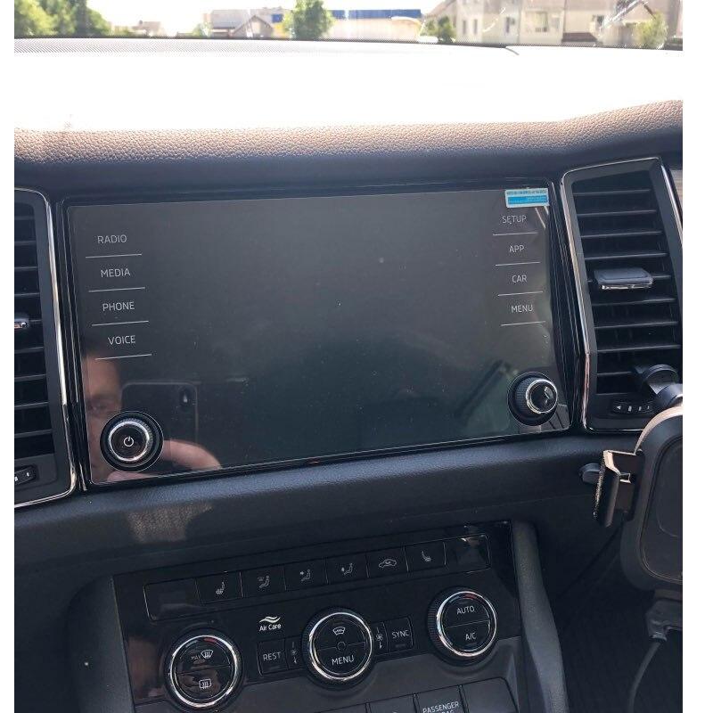 8 Inch For Skoda Kodiaq Karoq 2017 2018 Car GPS Navigation Tempered Glass Screen Protector Car Styling Auto Interior Accessories