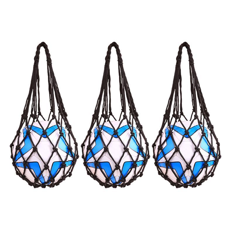 3pcs Net Bag High-quality Durable Useful Big Holder Storage Net Bag For Basketball Soccer Ball