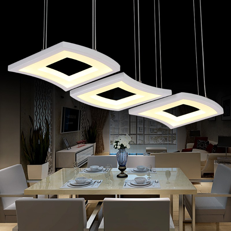 Fashion 3 Head Led Pendant Light Adjustable Dining Hall