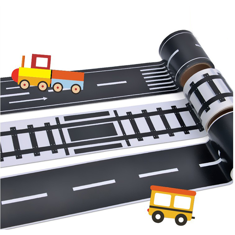 5m Childrens Toy Car Traffic Road Rail Road Track Tape Mask Paper Tape Diy Creative Design Floor Sticker Volume Large 5cm Back To Search Resultstoys & Hobbies