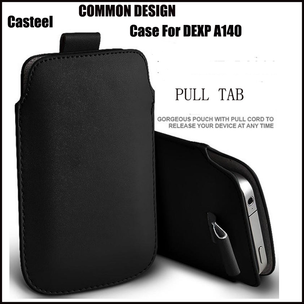 Buy Casteel PU Leather Case For DEXP A140 Pull Tab Sleeve Pouch Bag Case Cover for only 2.25 USD