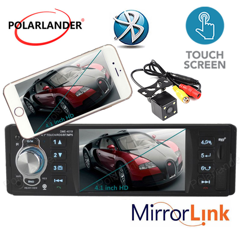все цены на new 4.1'' inch HD Touch TFT screen Car radio player MP3 MP4 MP5 Support Rear view Camera Audio video RDS/FM/USB/TF/12V