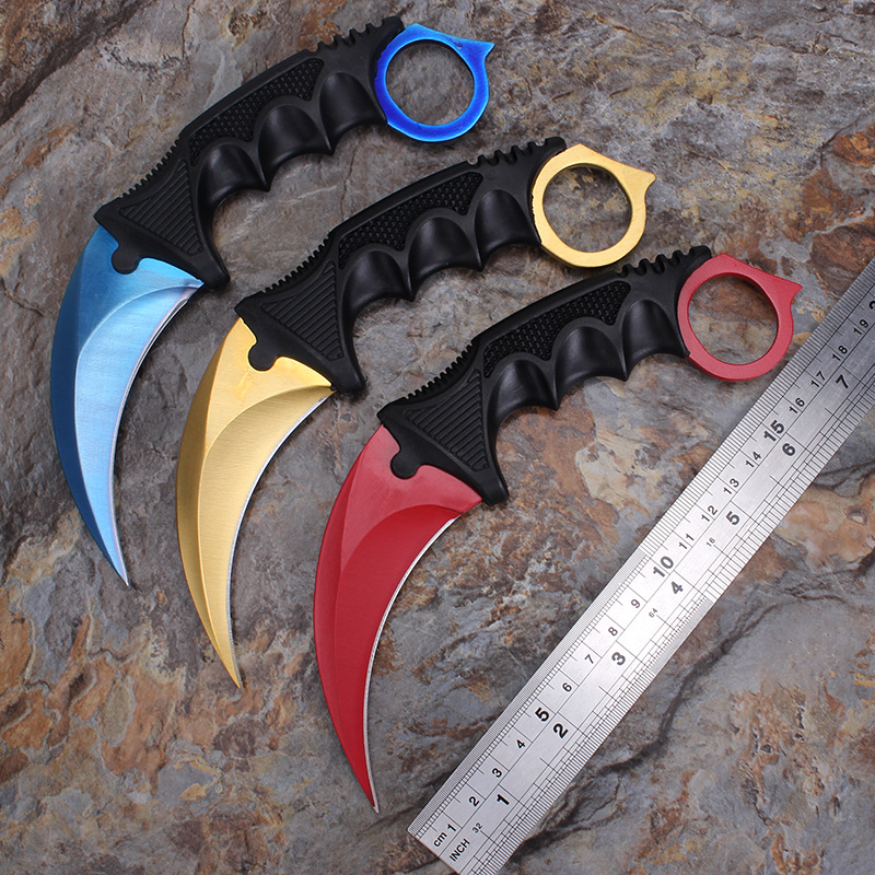 2016 new cs go counter strike karambit handmade hunting knives fighting claw knife tactical. Black Bedroom Furniture Sets. Home Design Ideas