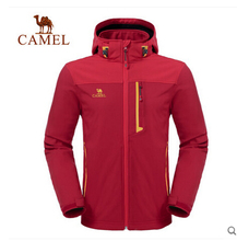 Camel outdoor men's soft shell new winter clothes jacket windproof soft shell