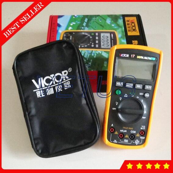 VICTOR 17 True RMS Auto Range Digital Multitester with handheld LCD Display AVO meter avo kull haigla