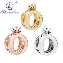 865f13878e4c Slovecabin 925 Nuevo 2018 corona de plata de ley O abalorio para joyería  DIY que marca