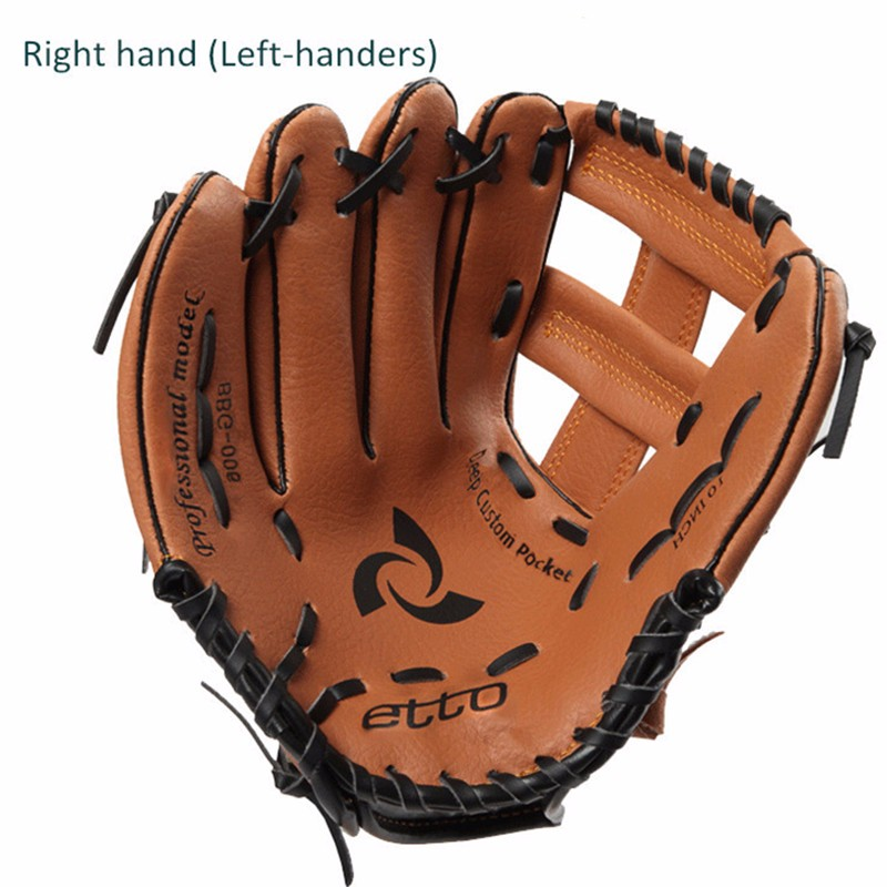 Child Youth Boy Girl Brown Baseball Glove 1011 Softball Outdoor Team Sports RIGHT HAND Practice Equipment