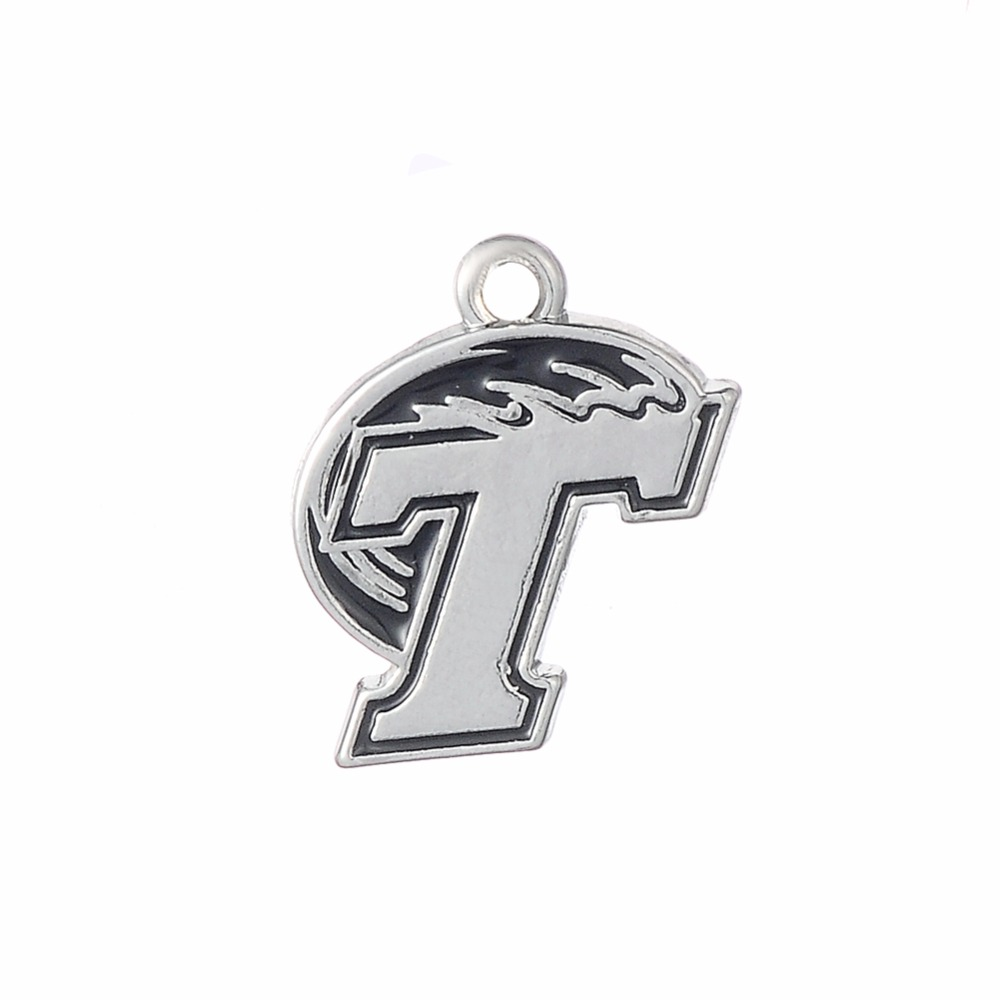 Home college tulane green wave tulane green wave silver plated - Skyrim 10pcs Single Side Tulane Green Wave Diy Charms Sports Jewelry China Mainland