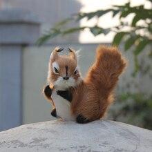 Polyethylene & Furs Christmas Lifelike Cute Brown Squirrel Dolls Gift 15*8*11CM