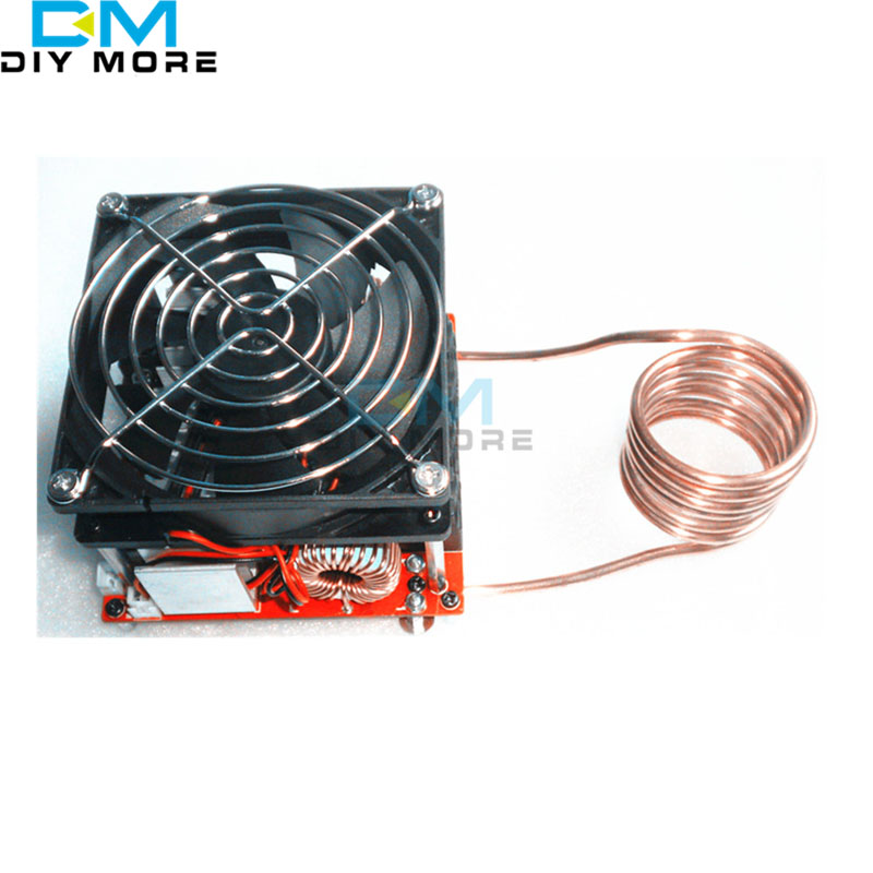 ZVS 20A Induction Heating Board Flyback Driver Heater Cooker DIY + Ignition Coil melted metal zvs induction heater high frequency heating machine need to bring their own power diy brain training toy