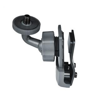 Image 5 - Kask yan sabitleme kıskacı tutucu Gopro Sony Sjcam ve Garmin eylem kamera 360 derece ayarlanabilir snowboard Skydiving