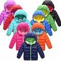 NOVA Moda de Alta qualidade Chapéu Diabo Meninos Jaqueta de Inverno Roupa Nova Meninos Roupas de cores Doces Meninas Roupas jaqueta de Inverno