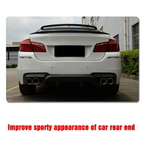 Image 5 - Carbon Fiber Rear Bumper Diffuser Lip Spoiler For BMW 5 Series F10 M5 Sedan 2012 2017 Car Tuning Parts