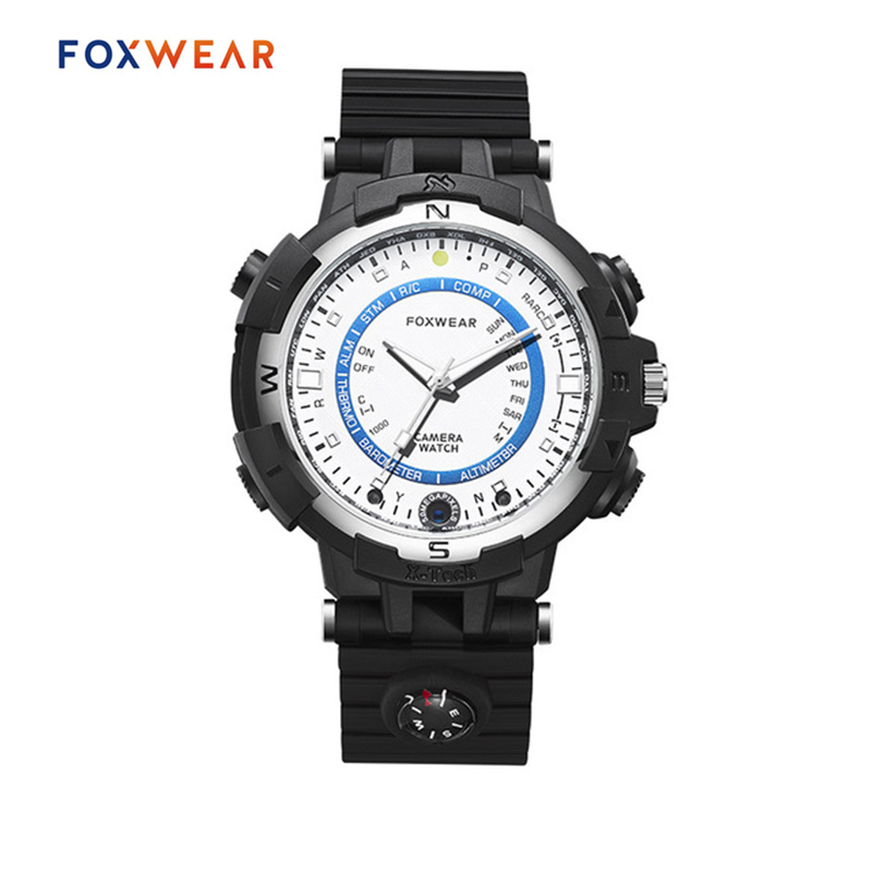 FOXWEAR FOX8 Driving Sports Smart Camera Watch With LED Light Compass 720P HD Car Digital Video Recorder Recording Wristwatch сарафан fox hd