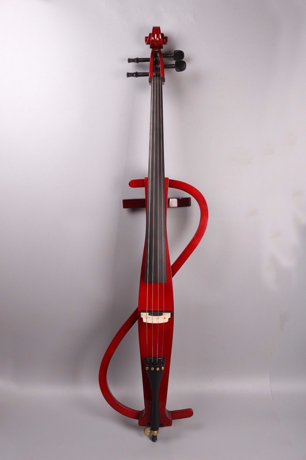 Red 4string 4/4 Electric silent Cello Powerful Sound solid wood Handmade#EC3 handmade new solid maple wood brown acoustic violin violino 4 4 electric violin case bow included
